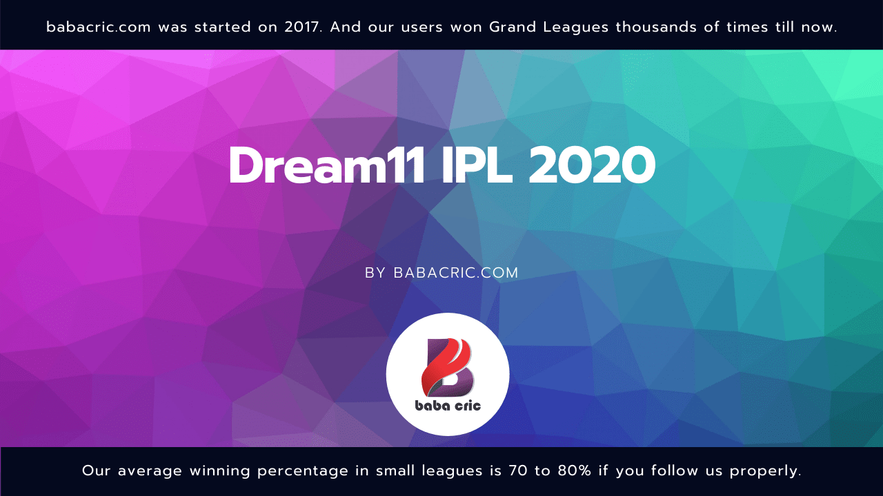 MI vs CSK (Dream11 IPL 2020)