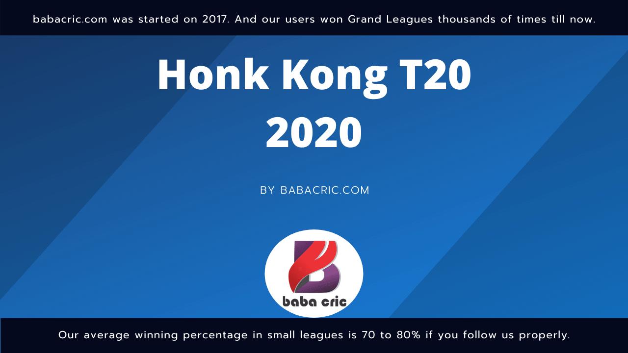 KCC vs HKCC Dream11 Prediction | IPL 2020 Team | Live Score