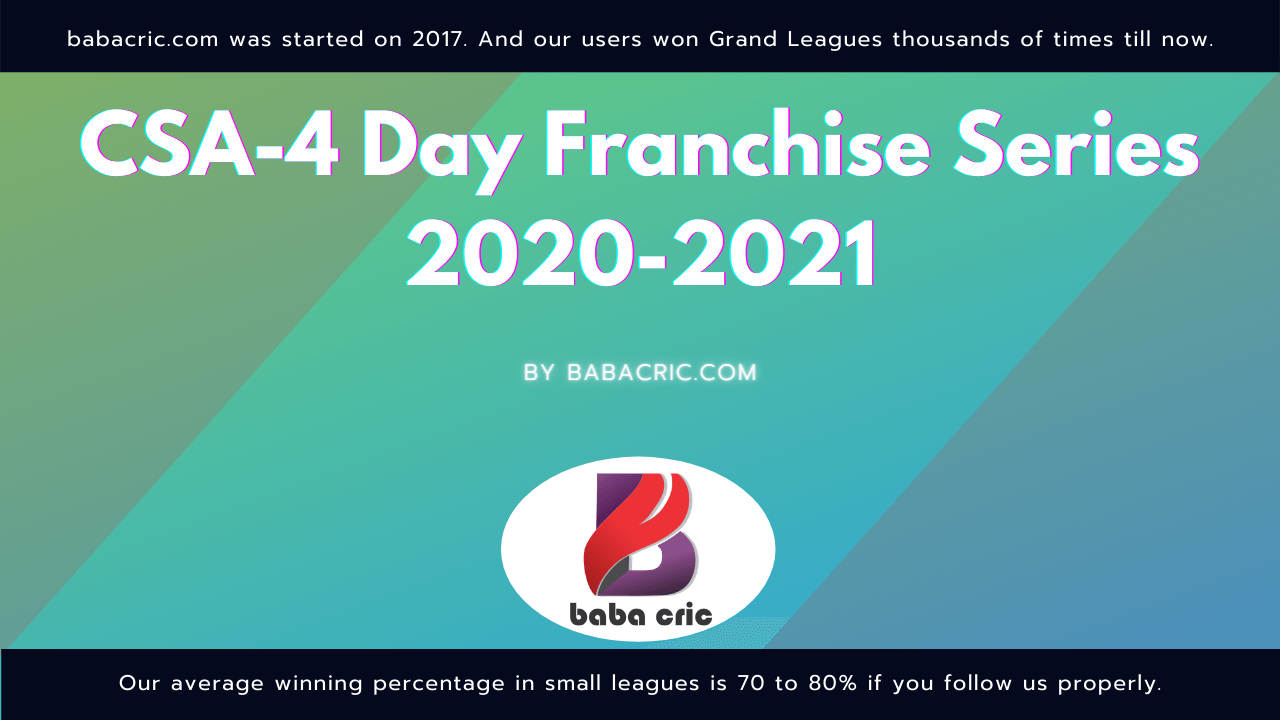 CSA-4 Day Franchise Series 2020-2021