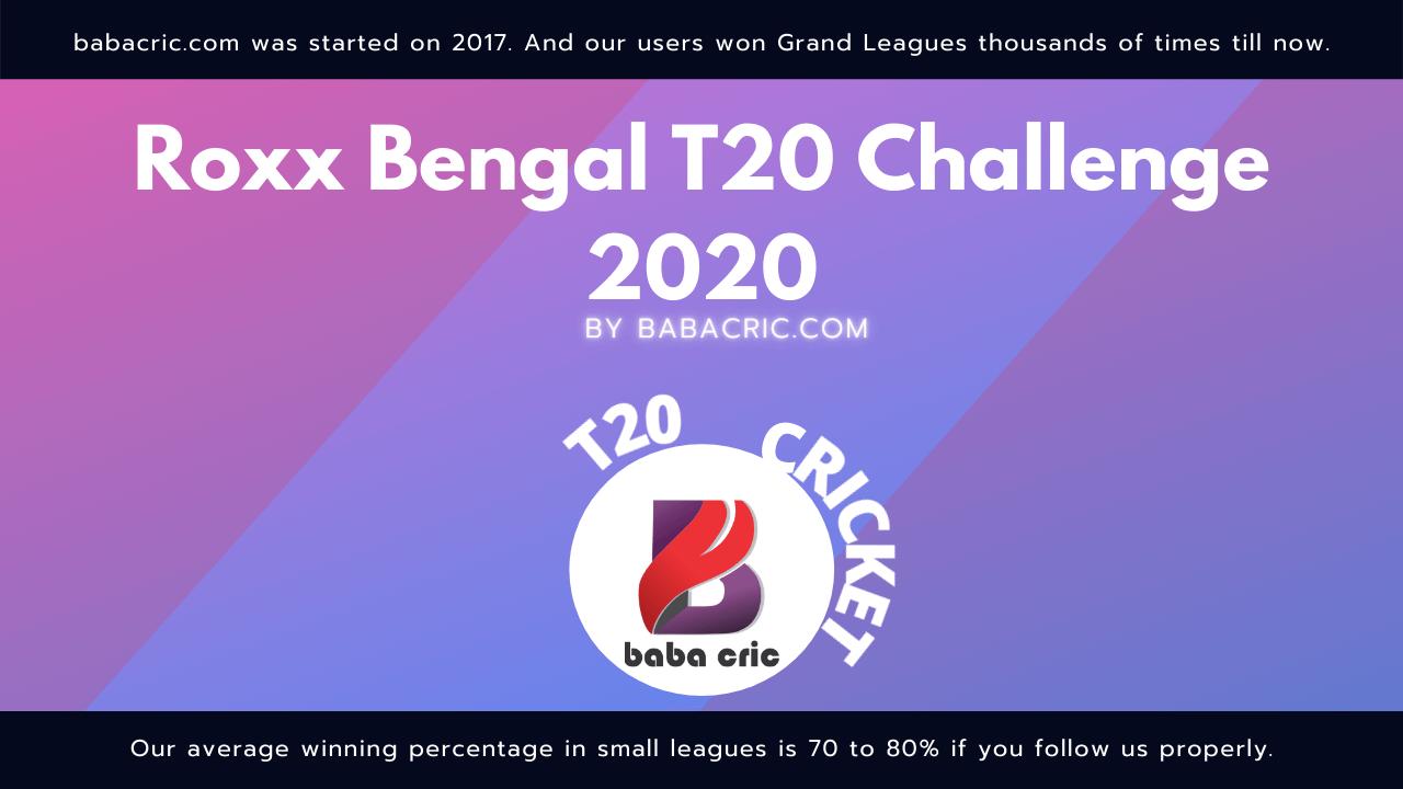 MBC vs TMC (Roxx Bangal T20 chellenge)