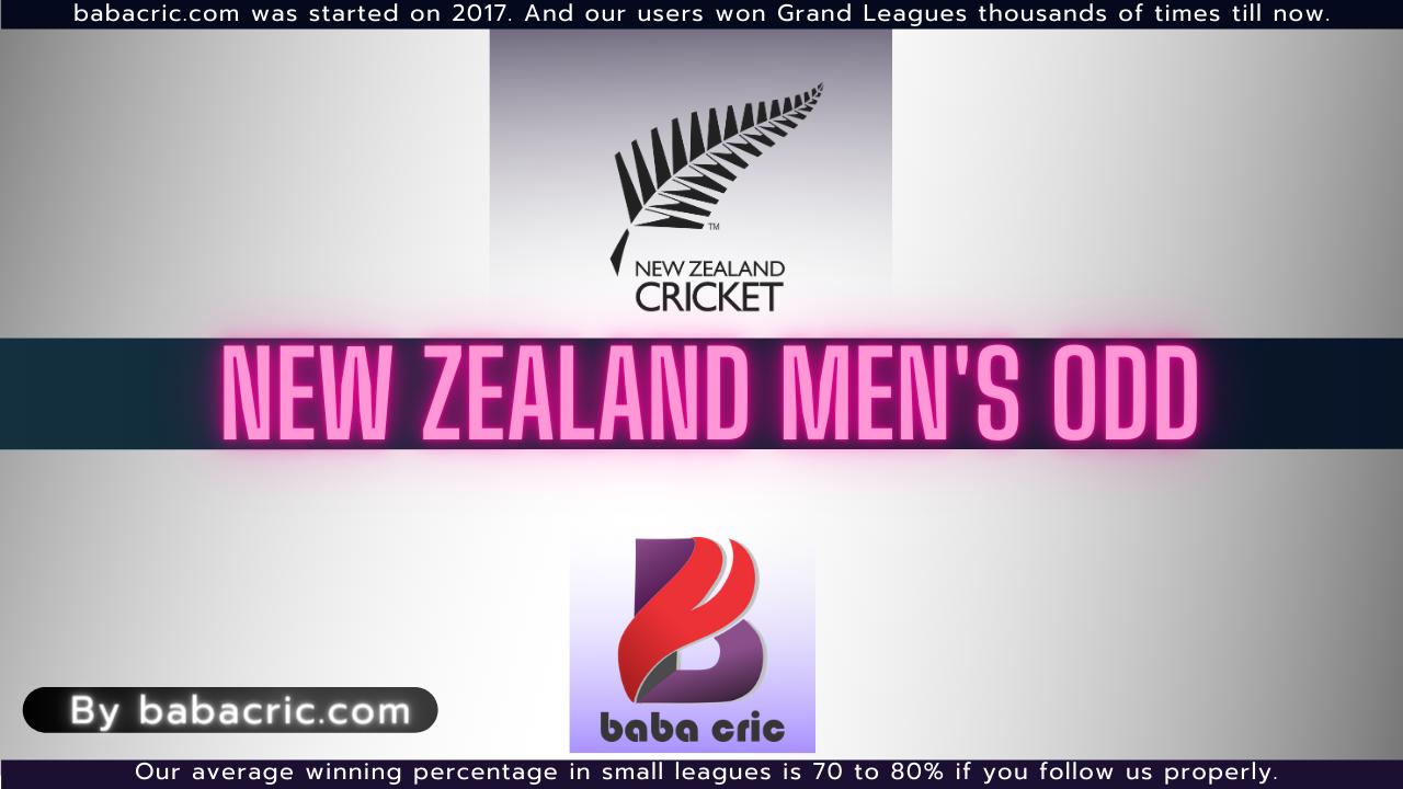 New Zealand Men's ODD