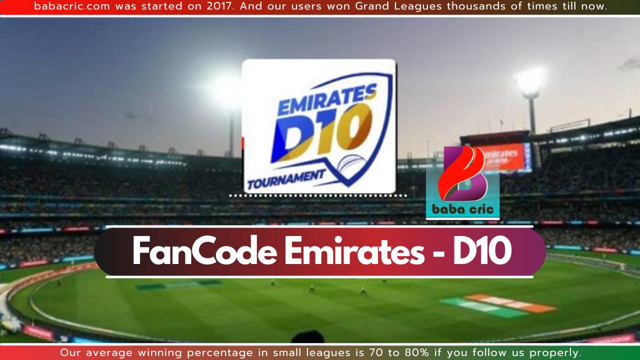 EMB vs AJM (FanCode Emirates D10)