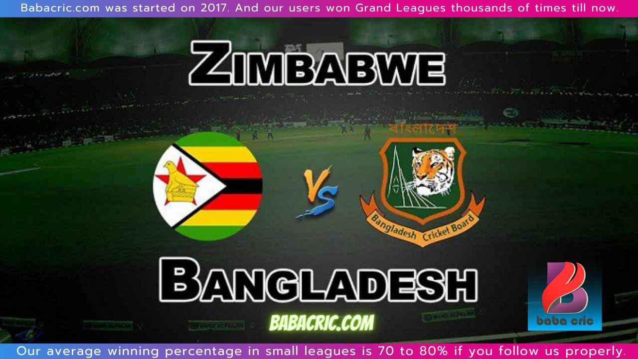 ZIM vs BAN 5th T20I Dream11 Prediction | IPL 2020 Team | Live Score