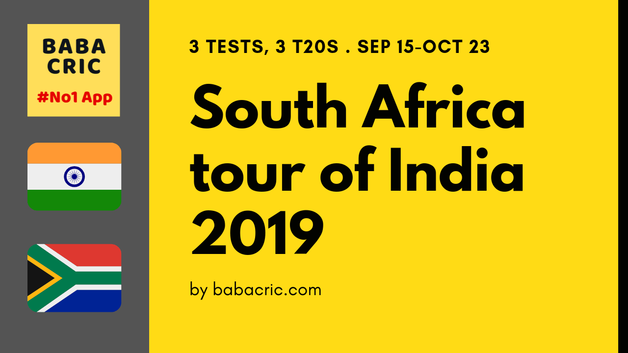 South Africa tour of India, 2019