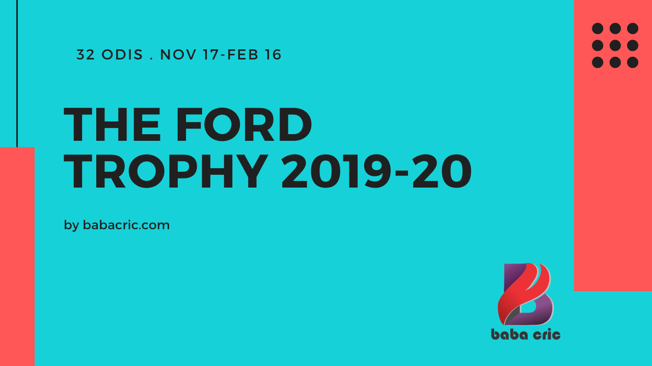 The Ford Trophy 2019-20