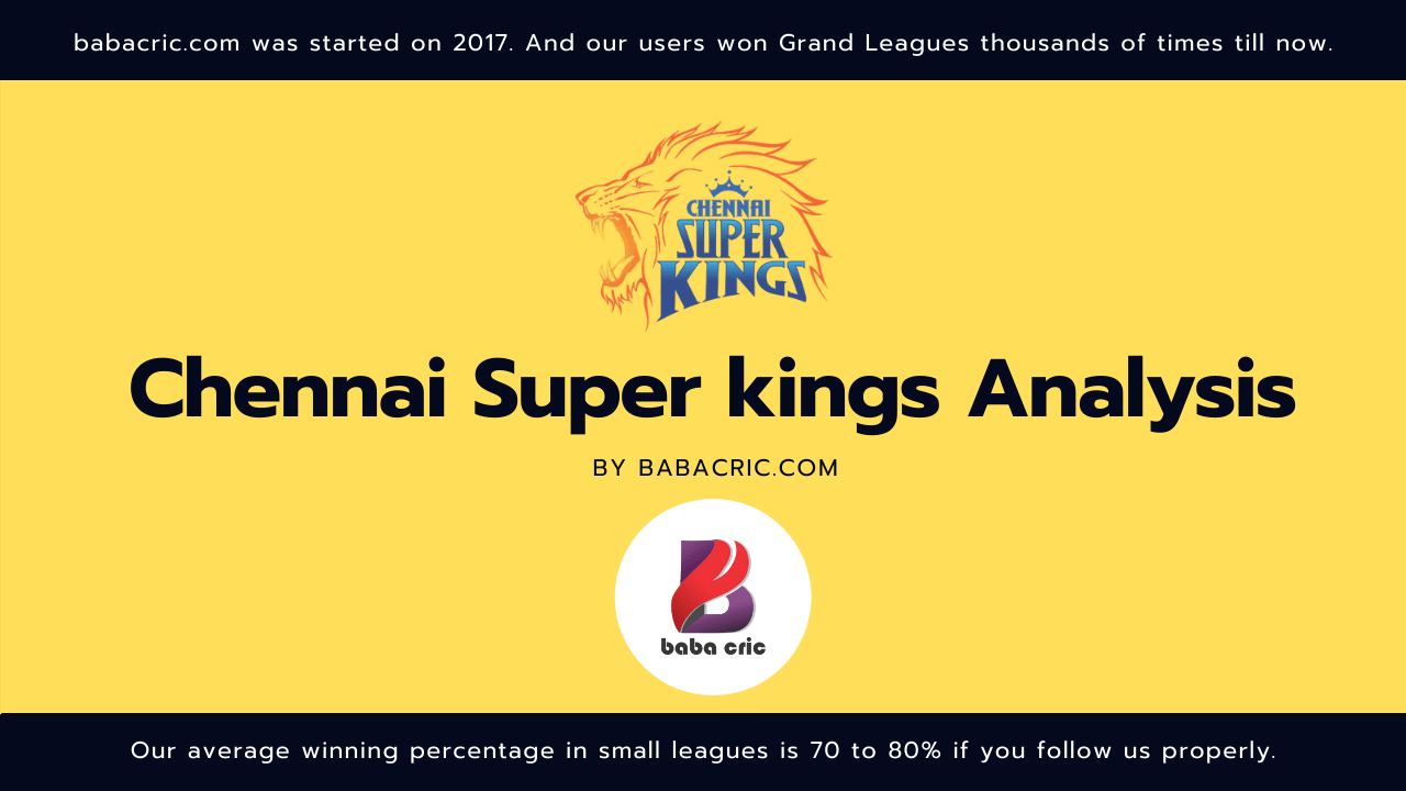 CSK IPL Squad Analysis