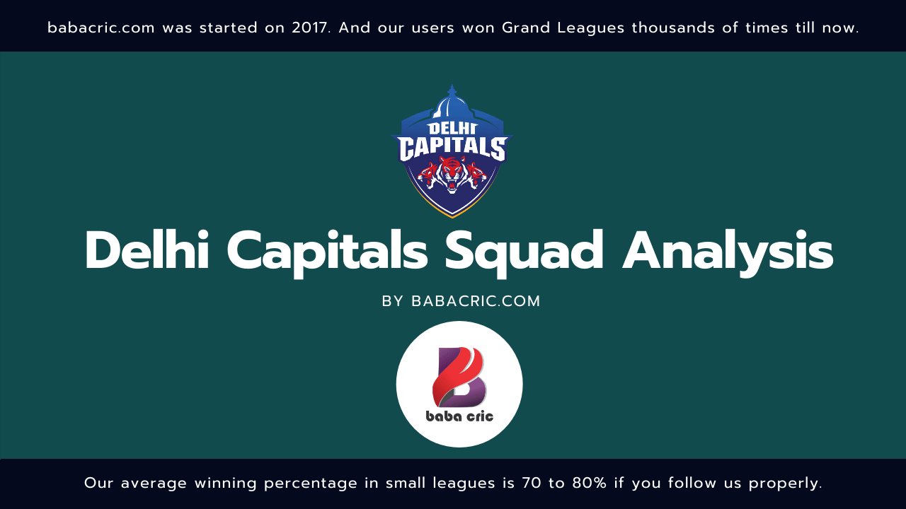 DC IPL Squad Analysis