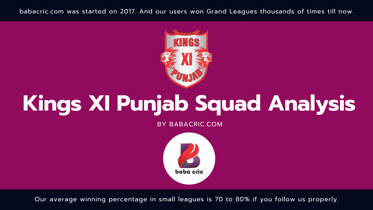 KXIP IPL Squad Analysis