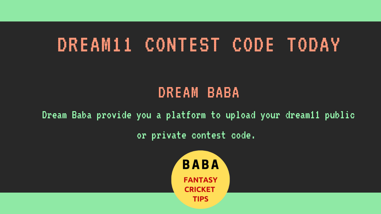 AA vs NBB Dream11 Contest Code | Private Contest